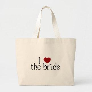 I love the bride canvas bag