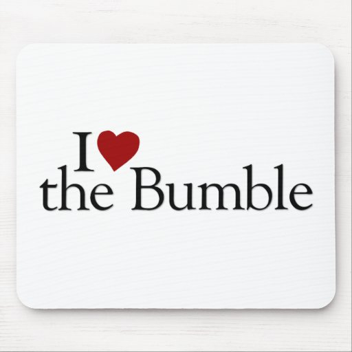 I Love The Bumble Mouse Pads