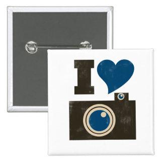 I Love the Camera 2 Inch Square Button