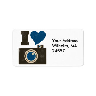 I Love the Camera Custom Address Labels