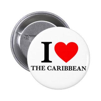 I Love the Caribbean Pin