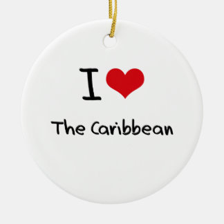 I love The Caribbean Double-Sided Ceramic Round Christmas Ornament