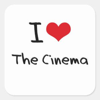 I love The Cinema Square Stickers