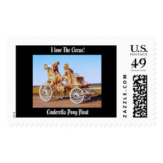 I Love The Circus! Cinderella Pony Float Stamp