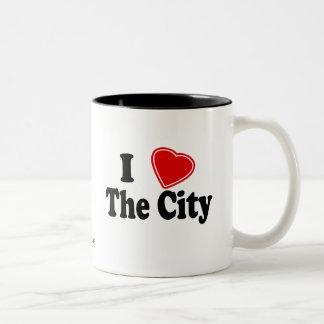I Love The City Two-Tone Coffee Mug