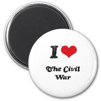 I love The Civil War 2 Inch Round Magnet