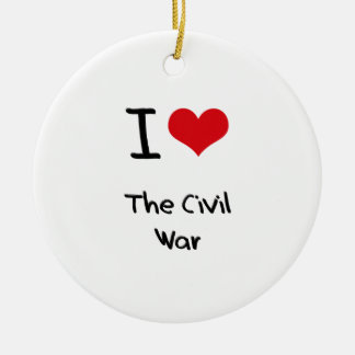 I love The Civil War Double-Sided Ceramic Round Christmas Ornament