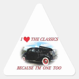 I love the classics triangle sticker