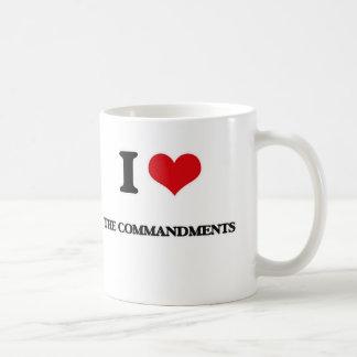 I Love The Commandments Coffee Mug