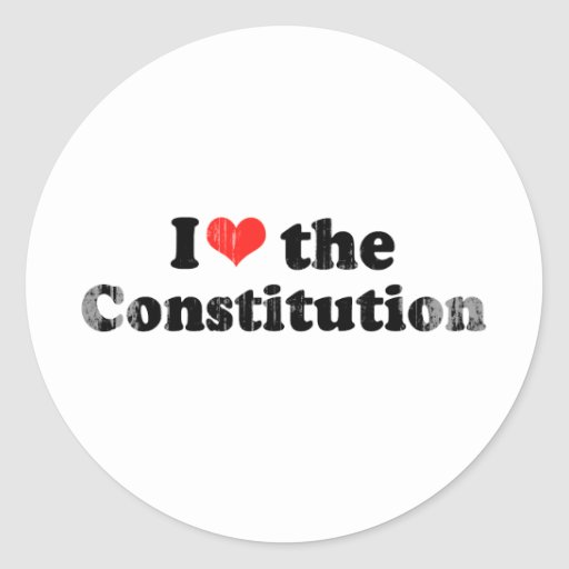 I LOVE THE CONSTITUTION.png Classic Round Sticker
