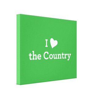 I Love the Country Canvas Print