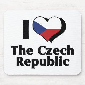 I Love The Czech Republic Flag Mouse Pad