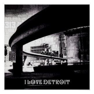 I love the D - People Mover & City Poster