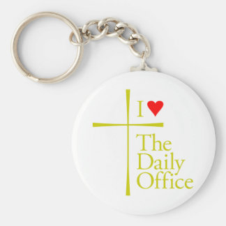 I Love The Daily Office Basic Round Button Keychain