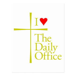I Love The Daily Office Postcard