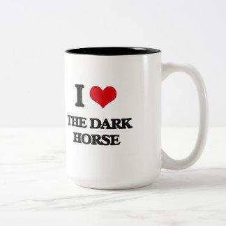 I Love The Dark Horse Two-Tone Coffee Mug