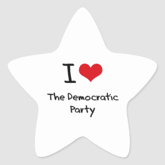 I Love The Democratic Party Star Sticker