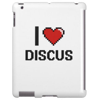I Love The Discus Digital Retro Design