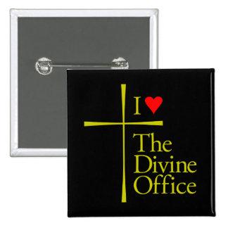 I Love The Divine Office 2 Inch Square Button
