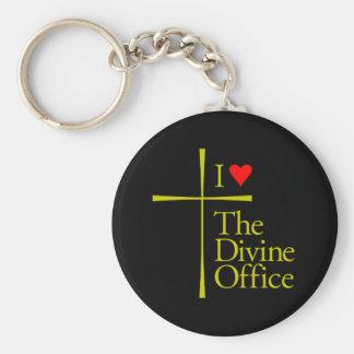 I Love The Divine Office Basic Round Button Keychain