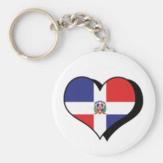 I Love The Dominican Republic Keychain