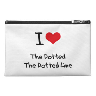 I Love The Dotted Line Travel Accessory Bag