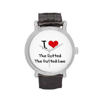 I Love The Dotted Line Wristwatches