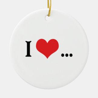 I Love...The Dramatic Pause Ceramic Ornament