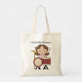 I Love The Drums Kids Music Gift Budget Tote Bag