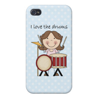 I Love The Drums Kids Music Gift iPhone 4 Case