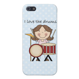 I Love The Drums Kids Music Gift iPhone 5/5S Case