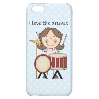 I Love The Drums Kids Music Gift iPhone 5C Cases