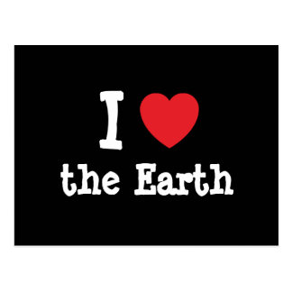 I love the Earth heart custom personalized Postcard