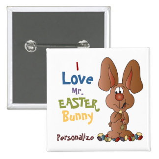 I Love the Easter Bunny Pinback Button