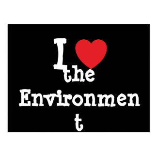 I love the Environment heart custom personalized Postcard