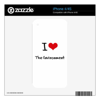 I love The Environment iPhone 4 Decals