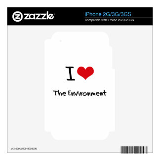 I love The Environment iPhone 3GS Decals