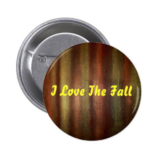 I Love The Fall Pinback Button