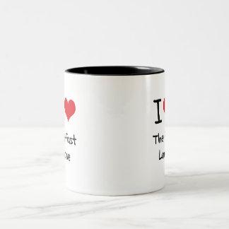I Love The Fast Lane Two-Tone Coffee Mug