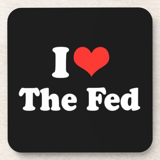 I LOVE THE FED.png Beverage Coasters