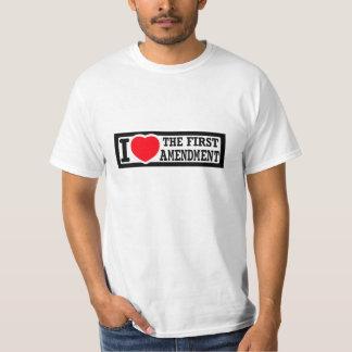 I Love The First Amendment T-Shirt