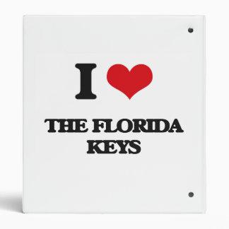 I love The Florida Keys 3 Ring Binder