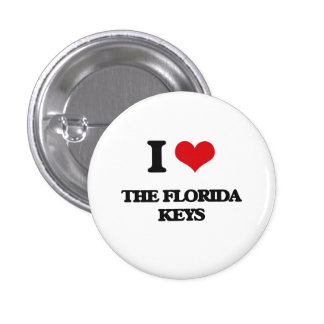 I love The Florida Keys 1 Inch Round Button