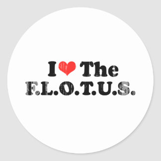 I LOVE THE FLOTUS.png Stickers
