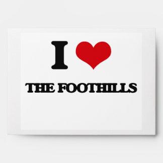 I Love The Foothills Envelopes