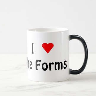 I Love the Forms morphing mug (left-hand)