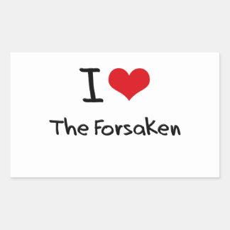 I Love The Forsaken Rectangle Stickers