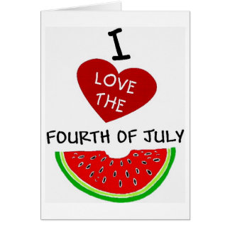 I LOVE THE FOURTH OF JULY 3 CARD