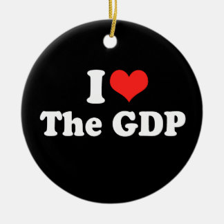 I LOVE THE GDP.png Christmas Ornament
