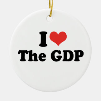 I LOVE THE GDP - .png Christmas Ornament
